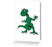 Dragon funny design cool comic Greeting Card