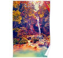 Laotian Waterfall Poster