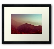 Crimson landscapes Framed Print