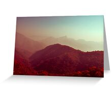 Crimson landscapes Greeting Card
