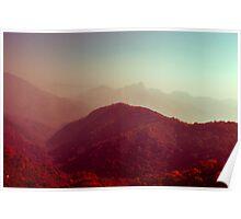 Crimson landscapes Poster