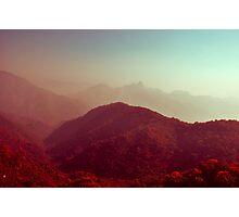Crimson landscapes Photographic Print