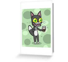 Coffee Cat Greeting Card