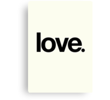 love.  Canvas Print
