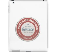 Vintage motors iPad Case/Skin