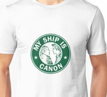 Starbucks/My Ship Is Canon- Sterek Unisex T-Shirt