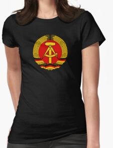 National Emblem of East Germany  Womens Fitted T-Shirt