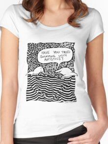 Swimming with Autistics Women's Fitted Scoop T-Shirt