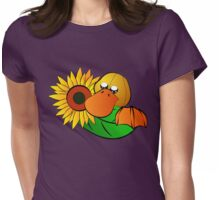 Platypus with Sunflower Womens Fitted T-Shirt