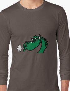 Dragon blow funny cool comic Long Sleeve T-Shirt