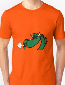 Dragon blow funny cool comic Unisex T-Shirt