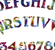 Tie Dye Ouija Board Sticker