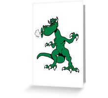 Dragon funny funny cool blow comic Greeting Card
