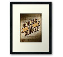 Books & Coffee Framed Print