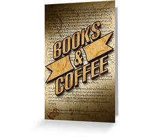 Books & Coffee Greeting Card
