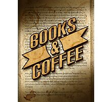 Books & Coffee Photographic Print