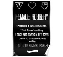 Female Robbery- The NBHD Poster