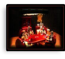 Bounty Hunters Playing Poker Canvas Print