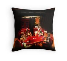 Bounty Hunters Playing Poker Throw Pillow