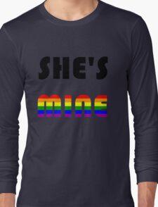 She's Mine Rainbow Long Sleeve T-Shirt