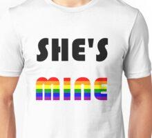 She's Mine Rainbow Unisex T-Shirt