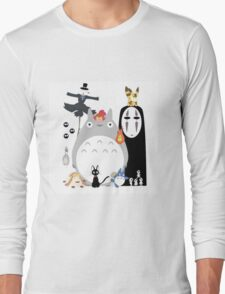 Totoro all Studio Ghibli Gang Long Sleeve T-Shirt
