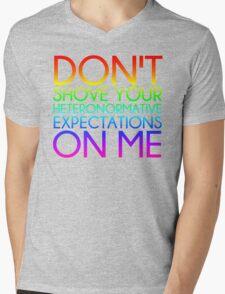 Heteronormative Expectations (rainbow) Mens V-Neck T-Shirt