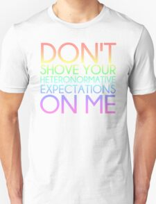 Heteronormative Expectations (pastel rainbow) T-Shirt