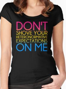 Heteronormative Expectations (pan) Women's Fitted Scoop T-Shirt