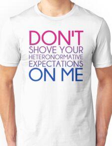 Heteronormative Expectations (bi) Unisex T-Shirt