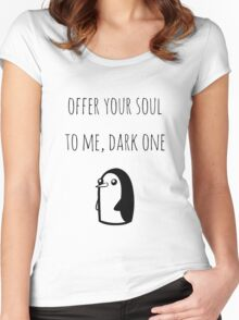 Offer Your Soul To Me, Dark One Women's Fitted Scoop T-Shirt