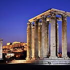 The Temple of Olympian Zeus & the Acropolis by Hercules Milas