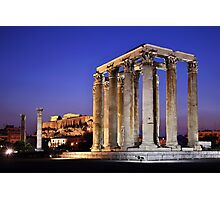 The Temple of Olympian Zeus & the Acropolis Photographic Print