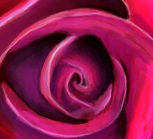 Rose painting by Szabó Dani
