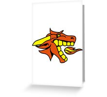 Dragon cool fire design comics Greeting Card