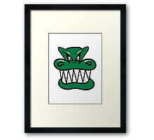 Wicked funny cool Dragon comic Framed Print