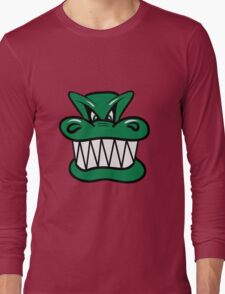 Wicked funny cool Dragon comic Long Sleeve T-Shirt