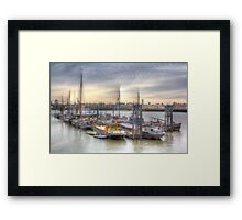 River Thames Boat Community Framed Print