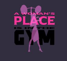 A Woman's Place Is In The Gym ! Women's Fitted Scoop T-Shirt