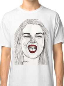 Kate with the Red Lips Classic T-Shirt