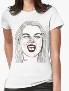Kate with the Red Lips Womens Fitted T-Shirt