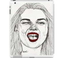 Kate with the Red Lips iPad Case/Skin