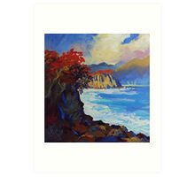 Island Seascape Oil Painting Ekaterina Chernova Art Print