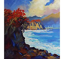 Island Seascape Oil Painting Ekaterina Chernova Photographic Print