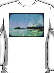 Blue Santa Monica Pier T-Shirt