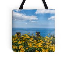 Golden Blue Tote Bag