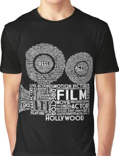 Film Camera Typography - White Graphic T-Shirt