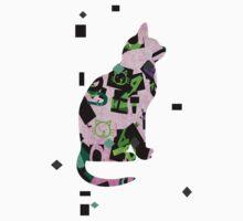 Pink cat Baby Tee