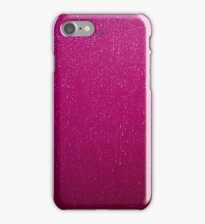 Textures - A leaf and rain on a marquee iPhone Case/Skin