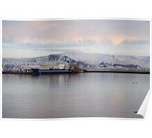 Reykjavik harbour Poster